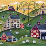 """Americana Cow Sheep Organic Farm"" by Folkart"