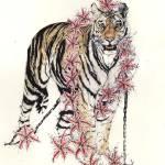 """Black Chain Tigress."" by GODDESSVIRAGO"