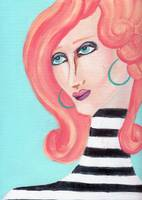 Lady with Stripes
