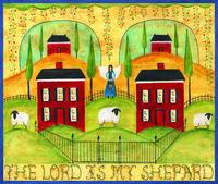 The Lord is my Shepard Sampler Folk Art