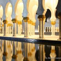 Sheikh zayed Mosque Pillars Art Prints & Posters by Maneef