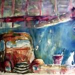"""""""fourgonnette à la retraite / The rusty van"""" by geronimo"""