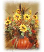 Halloween Bouquet with Pumpkin an Sunflower