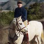 """Ronald Reagan on White Horse"" by worldwidearchive"