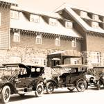 """Model T Cars at Crater Lake Lodge"" by lfagerland"