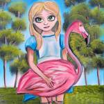 """ALICE IN WONDERLAND PAINTING"" by GORDONBRUCEART"