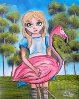 ALICE IN WONDERLAND PAINTING