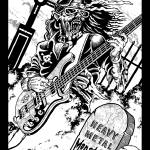 """HEAVY METAL GUITAR GHOUL"" by EARLFERGUSON"
