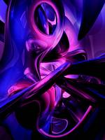 Fluorescent Passions Abstract