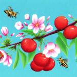 """The Busy Busy Bees"" by SamanthasArtStudio"