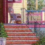 """Porch with Basket"" by susansartgallery"