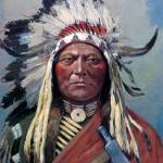 """Sitting Bull (1899) by Henry Farny"" by ArtLoversOnline"