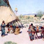 """The Chiefs Tent) 1893) by Henry Farny"" by ArtLoversOnline"