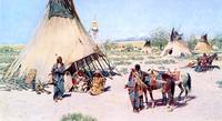 The Chiefs Tent) 1893) by Henry Farny