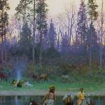 """The Ford (1899) by Henry Farny"" by ArtLoversOnline"