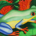"""Red Eyed Tree Frog"" by SamanthasArtStudio"