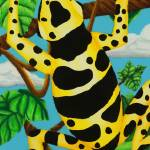 """Yellow Banded Dart Frog"" by SamanthasArtStudio"