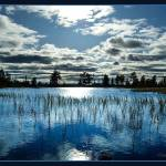 """Blue sky and reflections at Liatoppen"" by Odd"