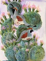 cactus and quail