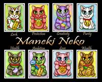 Maneki Neko Cats Group