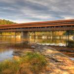 """The Harpersfield Bridge Early Fall"" by PicturelandUSA"