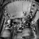"""Second Stage Engines, Saturn V"" by dawilson"