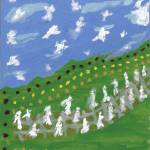 """Ascending to Mount Zion Watched by Angels"" by spiritualartist"
