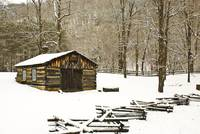Blacksmith Shop in Winter