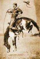 A Bucking Bronco (1888) by Frederick Remington