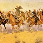 """A Cavalry Charge (1910) by Frederick Remington"" by ArtLoversOnline"