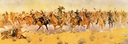 A Cavalry Charge (1910) by Frederick Remington