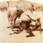 """A Critical Moment (1902) by Frederick Remington"" by ArtLoversOnline"