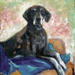 """German Short Hair Pointer - Babe by RD Riccoboni"" by BeaconArtWorksCorporation"