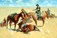 Among the Led Horses (1909) by Frederick Remington