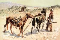 Antelope Hunting (1889) by Frederick Remington