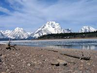 Jackson Lake GrandTeton Mountains Winter