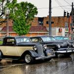 """Vintage Cars in Rain"" by PicturelandUSA"