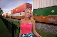 Desiree at Railway Station