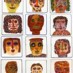 """Funny Faces"" by OutsiderArtist"
