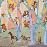 """Birds at Rest"" by OutsiderArtist"