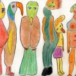 """Bird Gathering"" by OutsiderArtist"