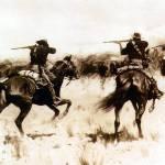 """Fighting over the Captured Herd (1898)"" by ArtLoversOnline"