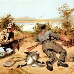 """Goose Shooting (1889) by Frederick Remington"" by ArtLoversOnline"