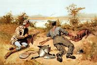 Goose Shooting (1889) by Frederick Remington