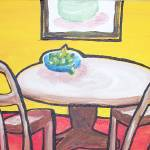 """A table with pears"" by clou"