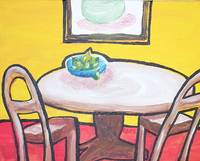 A table with pears
