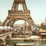 """Eiffel Tower, Paris, France c1900 Pictochrome"" by worldwidearchive"