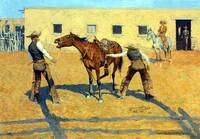 His First Lesson (1903) by Frederick Remington