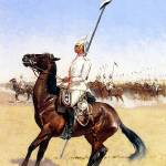"""Imperial Lancers (1890) by Frederick Remington"" by ArtLoversOnline"