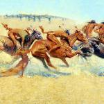 """Indian Warfare (1908) by Frederick Remington"" by ArtLoversOnline"